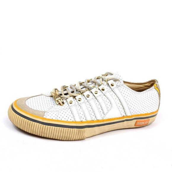 Replay Womens 9 Us Sneakers Shoes White